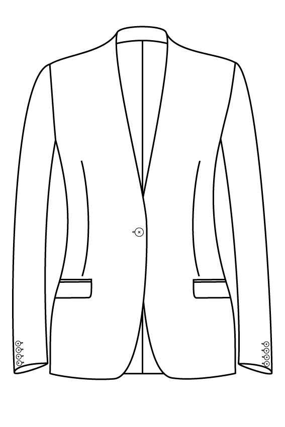 1 button collarless straight pockets ladies jacket blazer suit bespoke tailor made amsterdam.png
