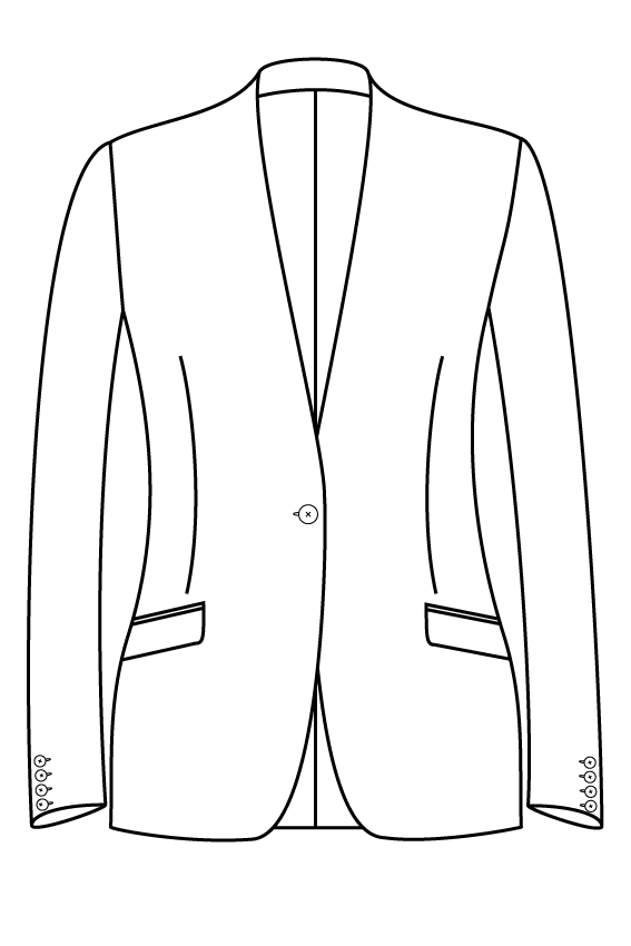 1 button collarless slanted pockets ladies jacket blazer suit bespoke tailor made amsterdam.png