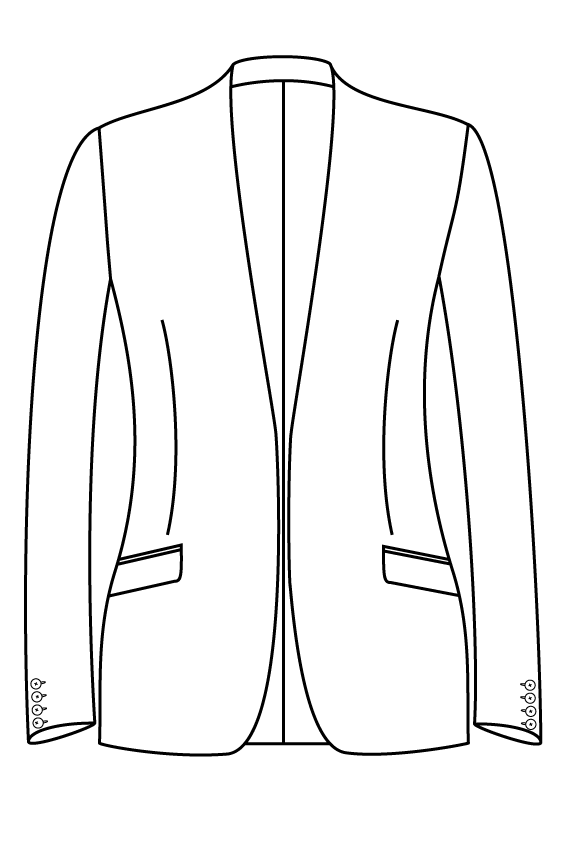 no button collarless slanted pockets ladies jacket blazer suit bespoke tailor made amsterdam.png