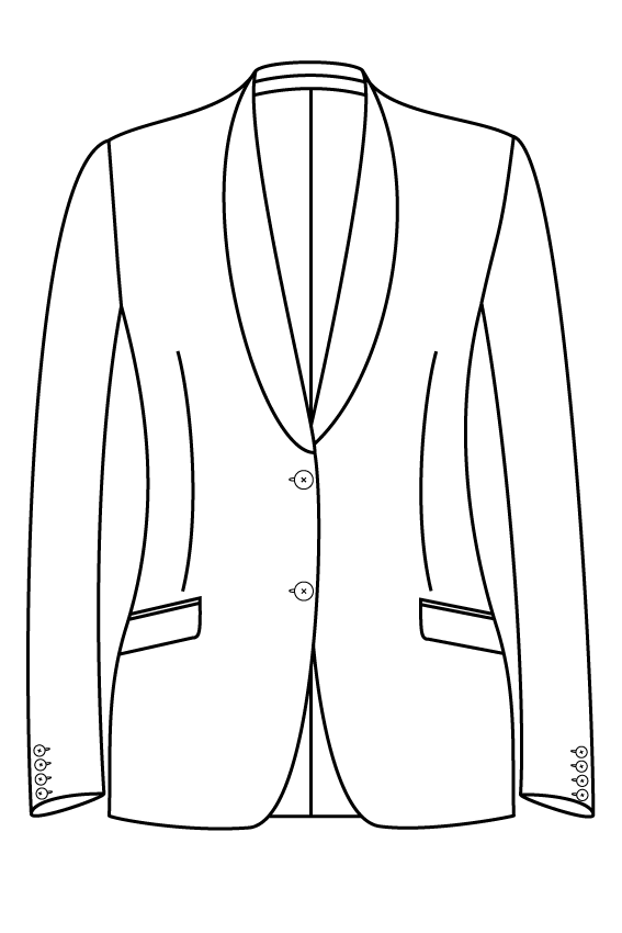 2 button shawl collar slanted pockets ladies jacket blazer suit bespoke tailor made amsterdam.png