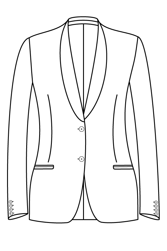 2 button shawl collar welted pockets ladies jacket blazer suit bespoke tailor made amsterdam.png