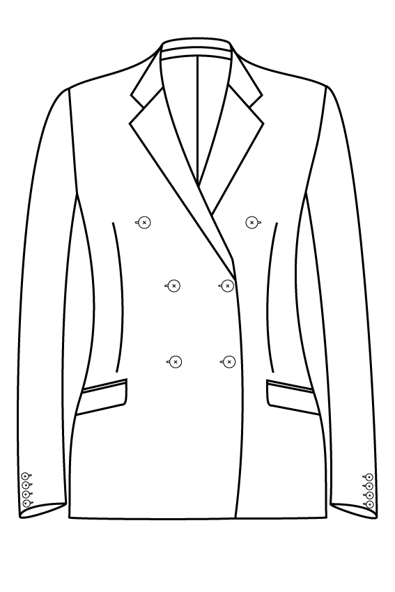 3x2 notch lapel slanted pockets ladies jacket blazer suit bespoke tailor made amsterdam.png