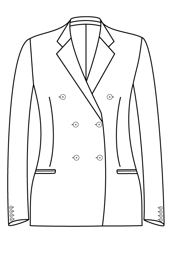 3x2 notch lapel welted pockets ladies jacket blazer suit bespoke tailor made amsterdam.png