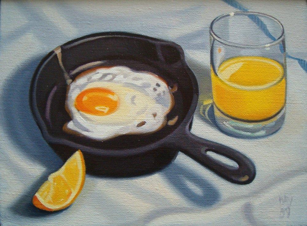 Egg with Orange Juice