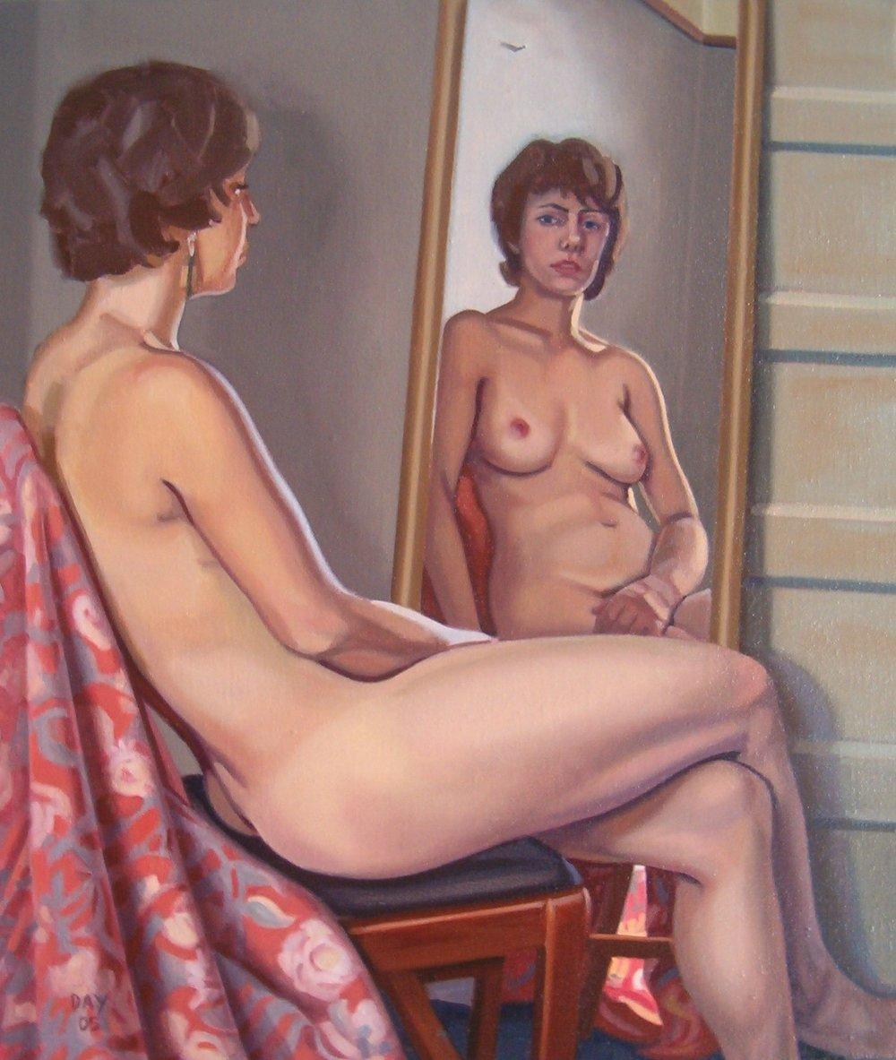 Nude in Mirror