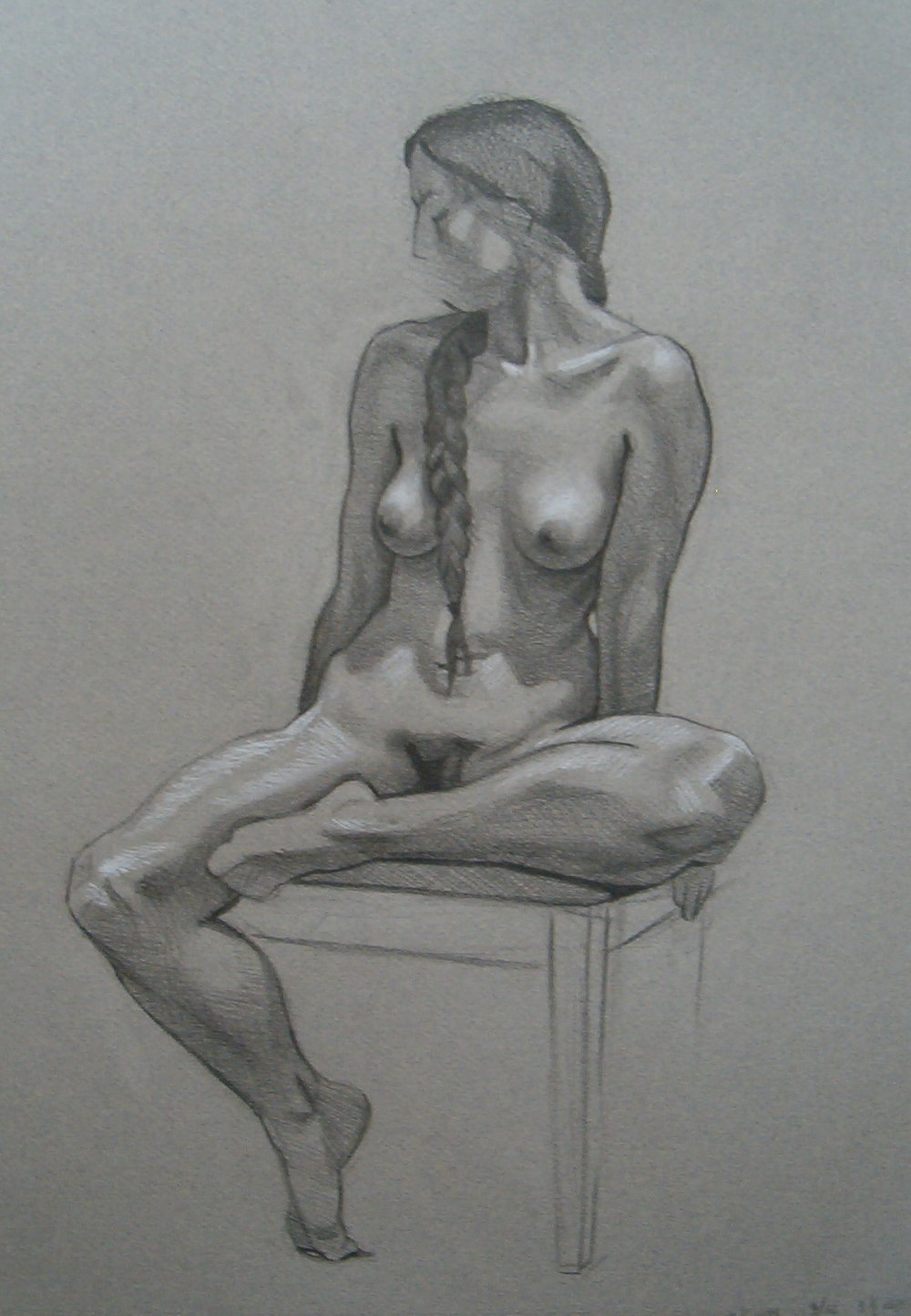 Nude with Braid