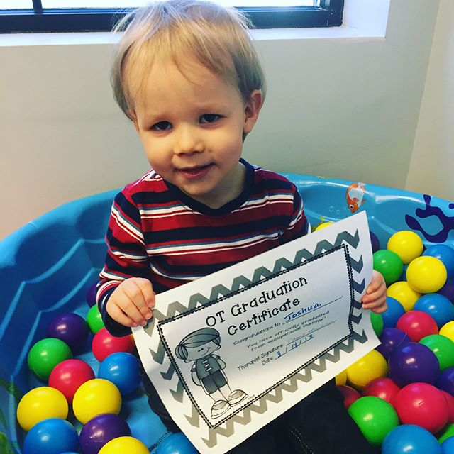 Our sweet Joshua graduated from OT today! We could not be more happy for this hard working boy and his supportive family! We will miss you, Joshua! #occupationaltherapy #speechtherapy #lawrenceburgtn #columbiatn #graduation #hardworker