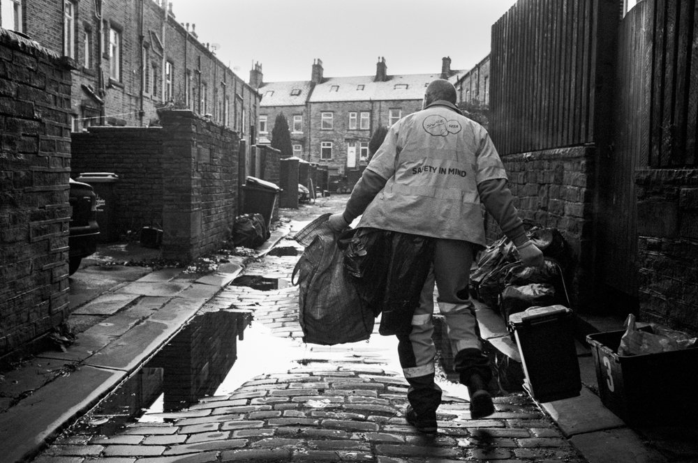 Gavin, Photographer and bin man, photographed for Beyond Work in 2014