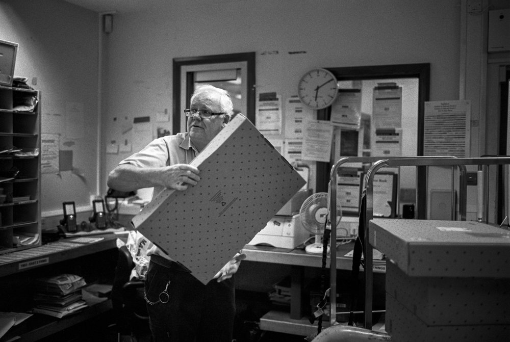 My dad, photographed in his final days at the Royal Mail