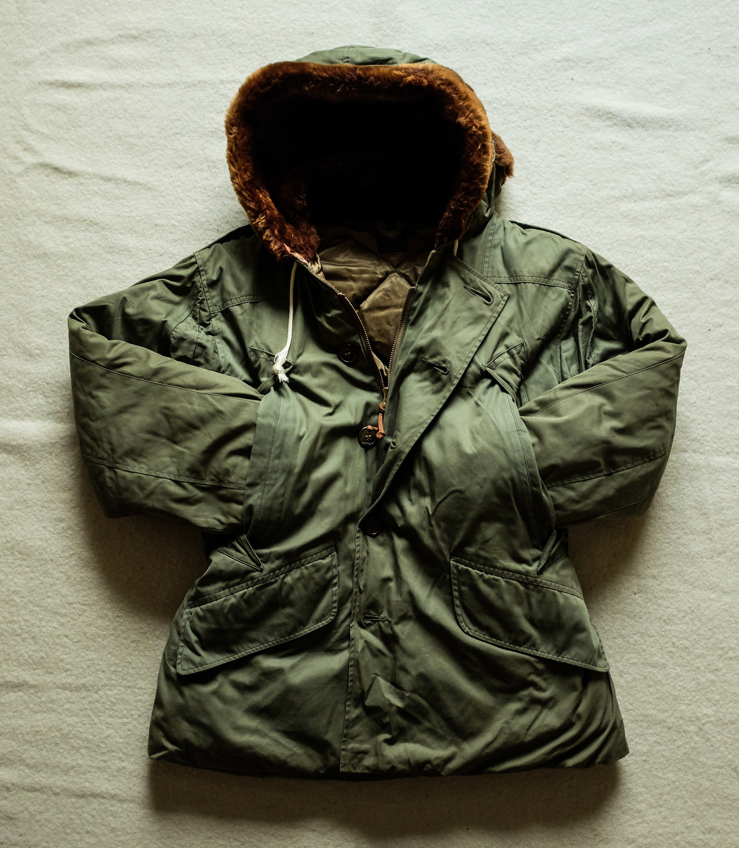 4f8f56c0033fa Near Mint Original WW2 Eddie Bauer USAAF B-9 Down Parka Winter Flight Parka.  Size Small 36 Jacket.