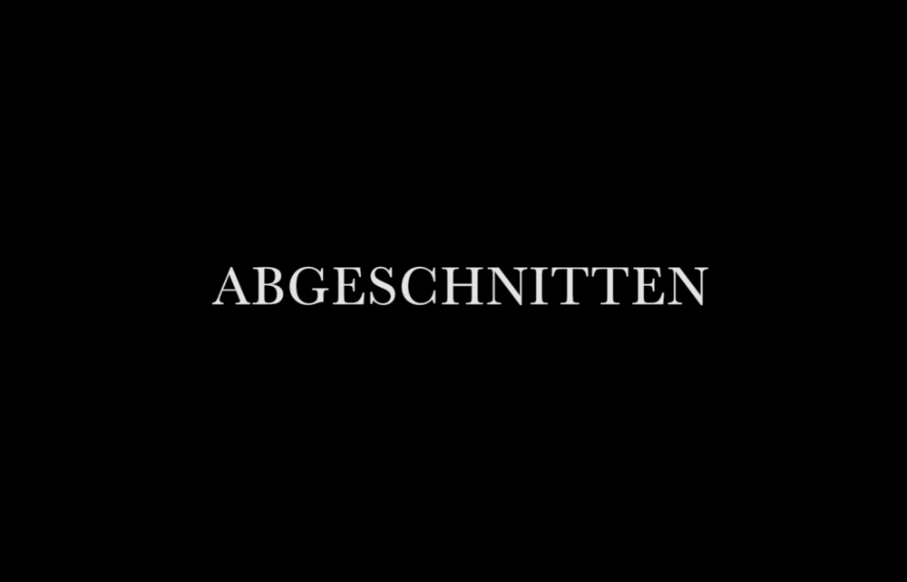 ABGESCHNITTEN (2017)  Written & Directed by Joao Caetano  Cinematography by Marcus Rodert