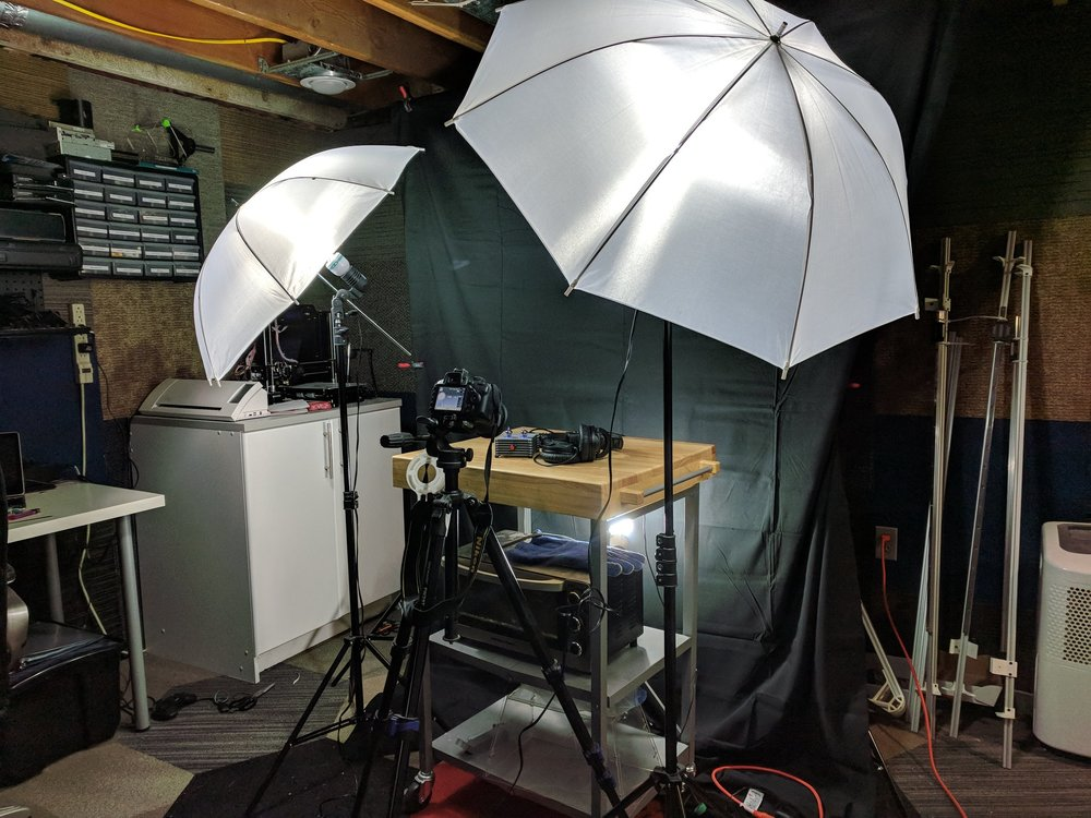 A view of my photography setup for doing macro work.