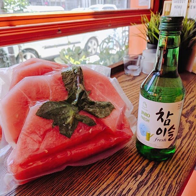 Mint compressed watermelon + Soju? Interested in this cocktail? Find out at Bi Bim Bap College location during the Taste of Little Italy this weekend 🇮🇹 #tasteoflittleitaly #littleitalytoronto #refreshing #mint #watermelon #cocktails #summer #soju #sojucocktail #thisweekend #koreandrink #torontodrinks #tofood #toeats #yyzeats #torontoeats #blogto #foodlove #foodlover #foodblog #torontofoodie #tofoodie #foodblogger #tastetoronto #foodstagram #instafood