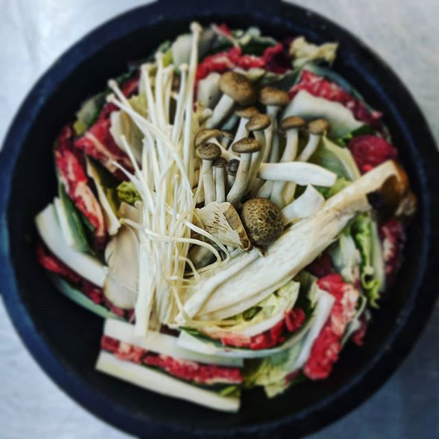 New special for holiday!! Finally, We've got soup now!! Mille - Feuille nabe in stonebowl! Sliced beef wrapped in Napa cabbage and perilla leaves! It is cold outside! Come and get some hot soup in stone bowl!! College location only!  #bibimbap #stonebowl #foodto #toeat #soup #littleitaly