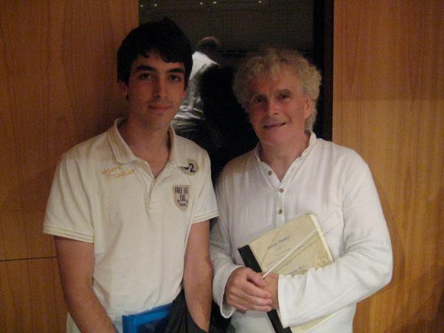 With Simon Rattle (Lucerne Festival Academy, 2011)