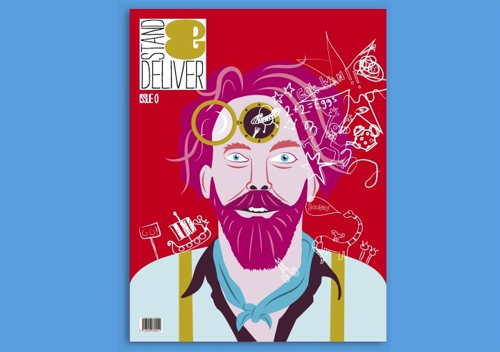 Stand & Deliver  I commissioned and edited the launch issue of this design-driven magazine about stand-up comedy
