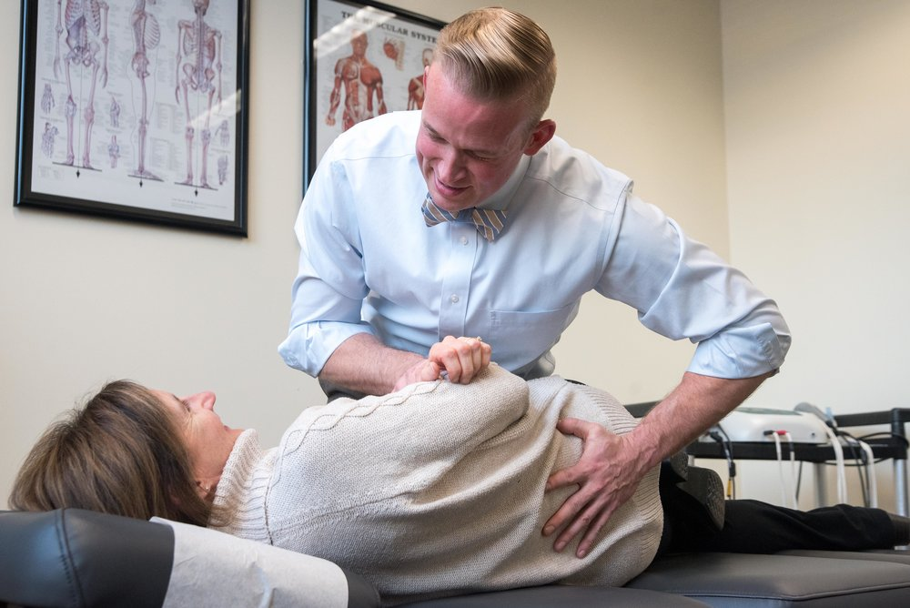 Chiropractic spinal adjustment