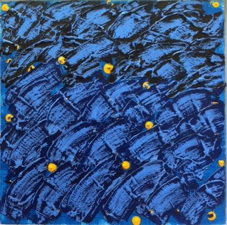 """Blues at 3:44PM - Mixed Media (12 x 12"""")"""