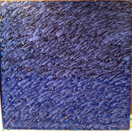 """Blues at 3:48PM - Mixed Media (48 x 48"""")"""
