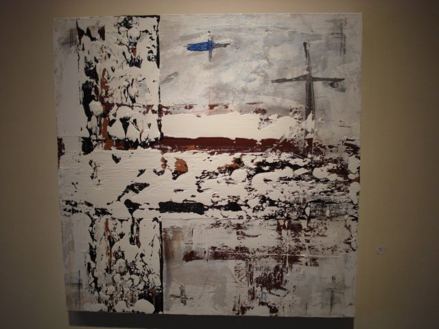 "Nivea Hiberna Crux Crucis II - Mixed Media (24 x 24"")"