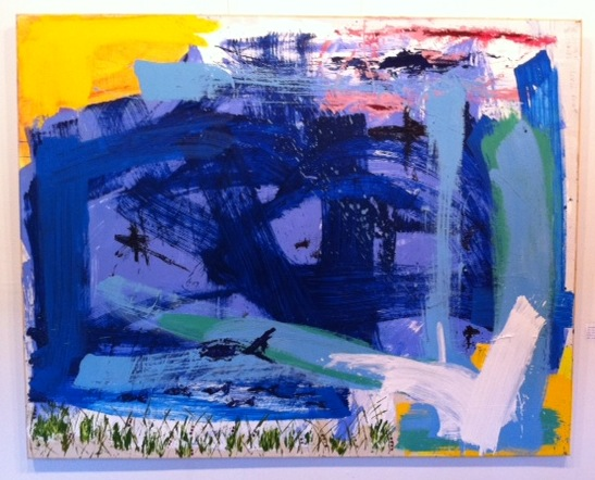 "Blues at Louse - Mixed Media (48 x 60"")"
