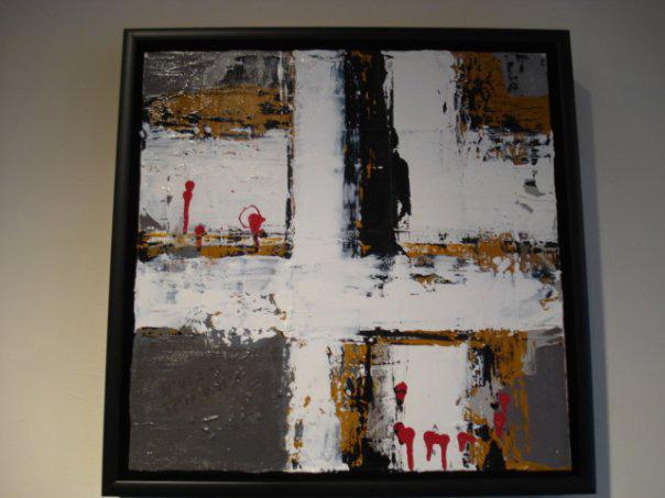 "Golgatha - Oil/Acrylic on Canvas (25 x 25"")"