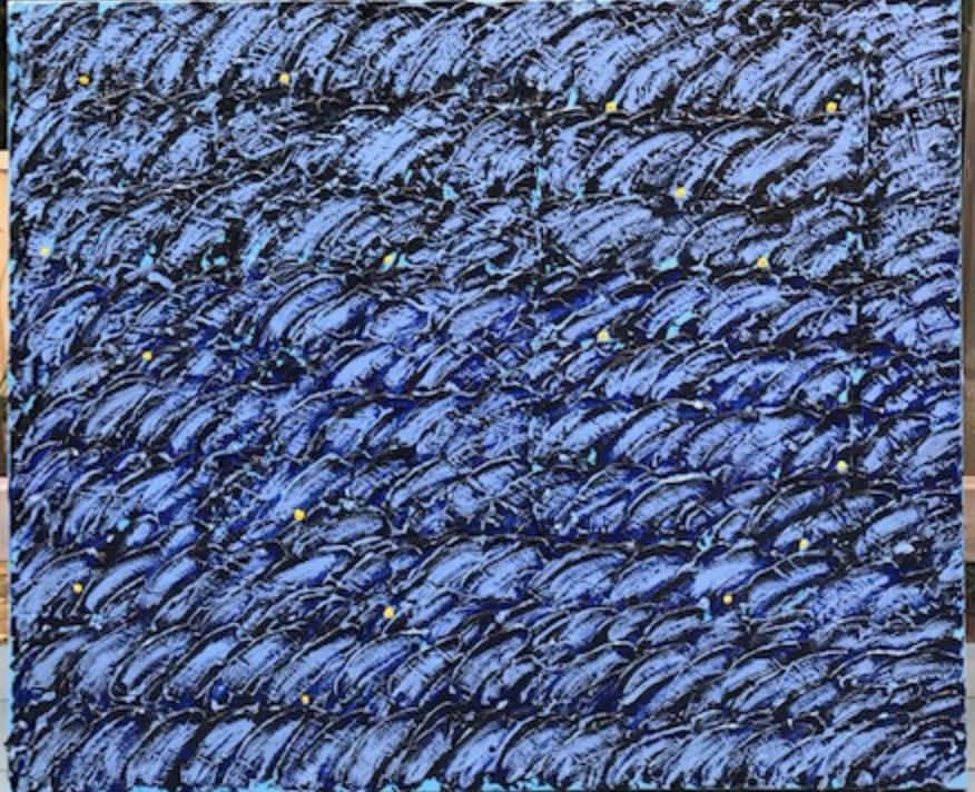 """'BLUES AT 4:15 PM - 30"""" X 36"""" 2018"""