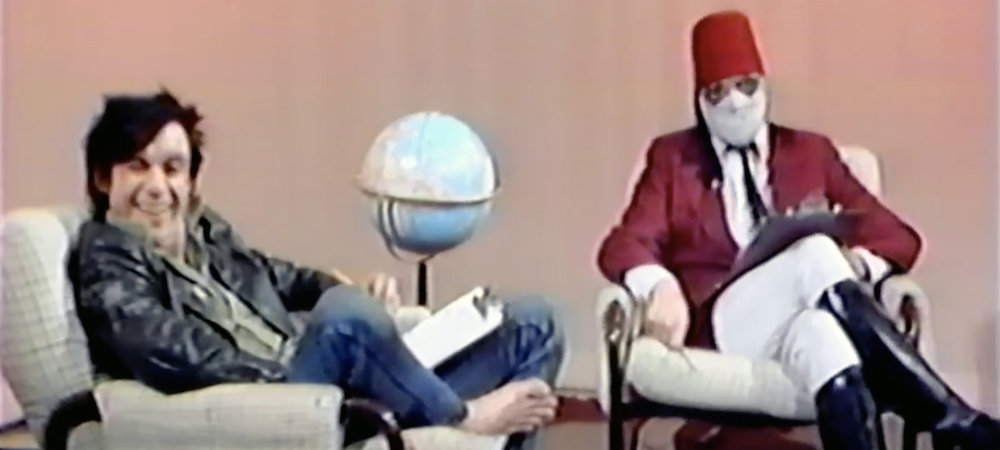 Iggy Pop and Nash The Slash on Meet The Mortals, a Calgary public access cable show, 1981.