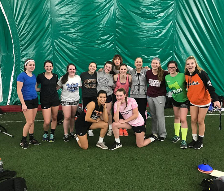 Somers High School Girls Lacrosse team - Brie Bernier kneeling on the left front & center