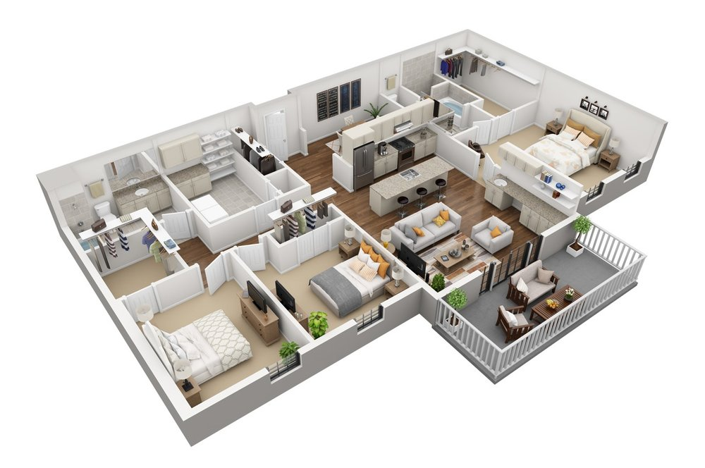 3 Bed | 2 Bath - 1869-2100 Sq. Ft. | Starting at $2,990.00
