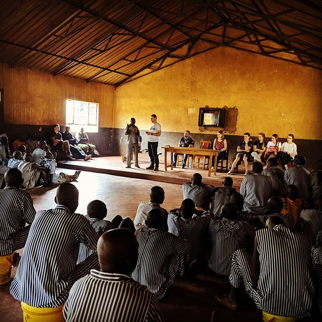Africa Mission Trip 2019. Starting out sharing the gospel in prison. God is so good, sharing the good news and  many people came up to pray.  #africa #africamissiontrip #okafrica #africamissiontrip2019