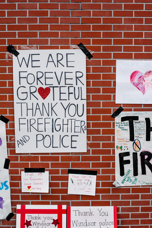 Fire station wall. | by Adam Decker | October 19, 2017