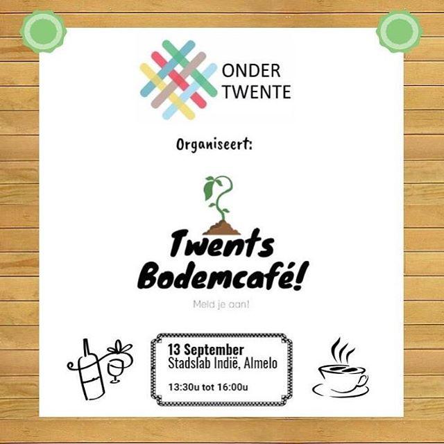 OnderTwente organiseert voor de tweede keer het #TwentsBodemcafé ! Er zijn nog enkele plekken beschikbaar dus meld je snel aan via j.warmerdam@enschede.nl ! Praat mee over de (Twentse) bodem, meer info www.ondertwente.nl/activiteiten ! #bodem #ondergrond #twente #bewustbodemgebruik #praatmee