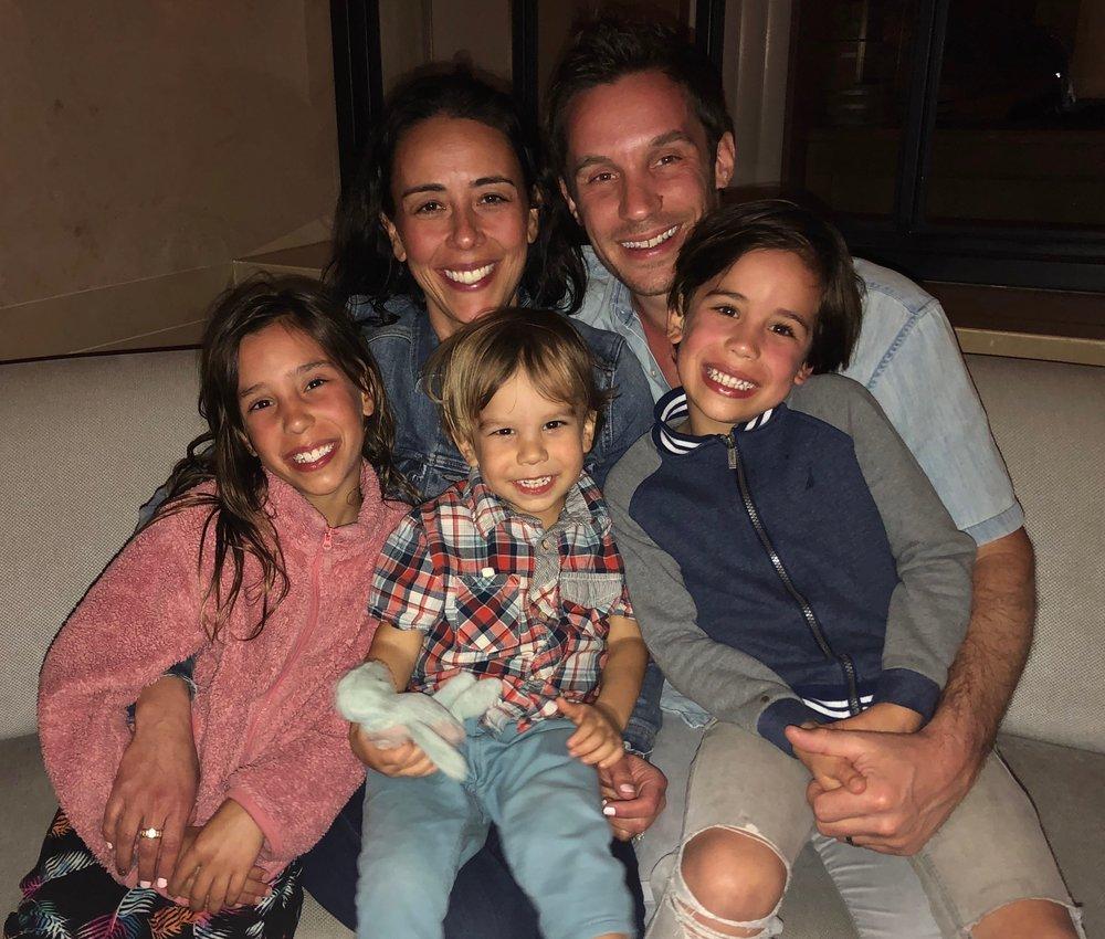 Angela, Mateo (2), Jeff, Luca (6), Michaela (8)