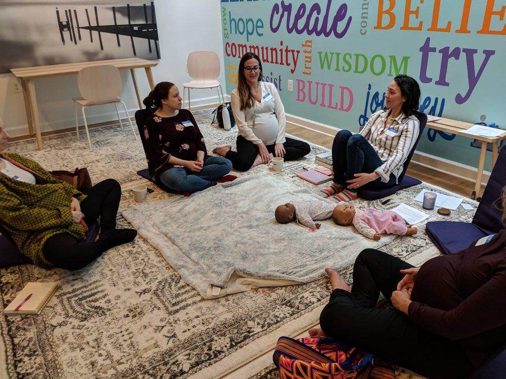 4th Trimester Workshop with colleague, Khayt Desai-Seltzer i of Vyana Infant Massage