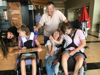 The most special guest visit came from these amazing local San Diego FOXG1 sisters and parents!