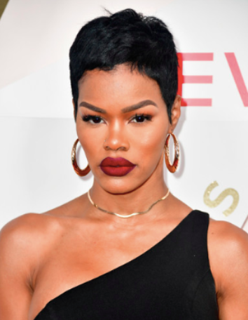 When Teyana isn't rocking her signature nude lip color or gloss, she opts for eye-catching colors including red, blue, and lavender.