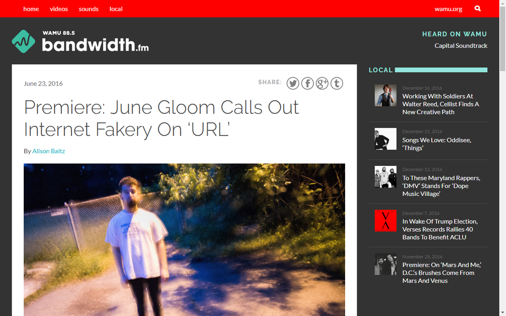 Bandwith.FM Premieres June Gloom