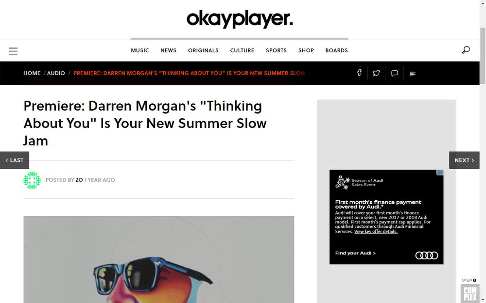 Okayplayer premieres New Darren Morgan Track
