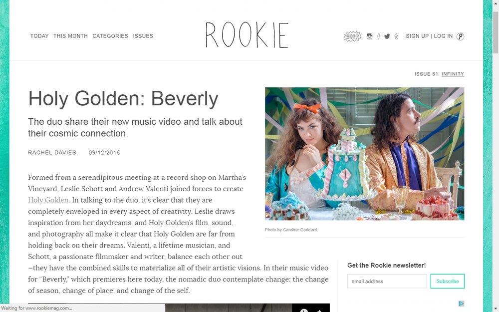 Rookie Mag Presents Holy Golden
