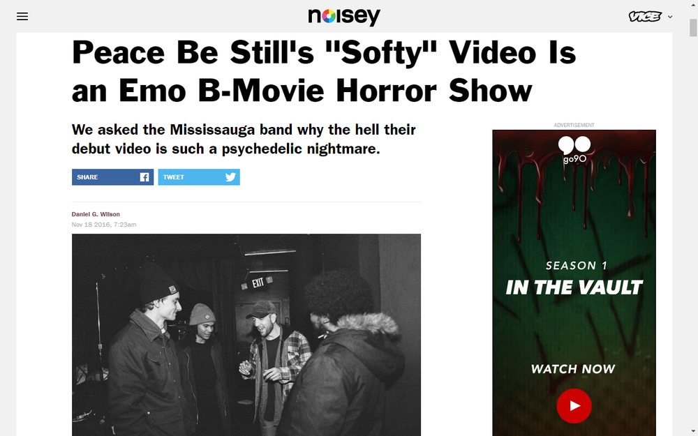 Noisey announces New Tune By B mOvie