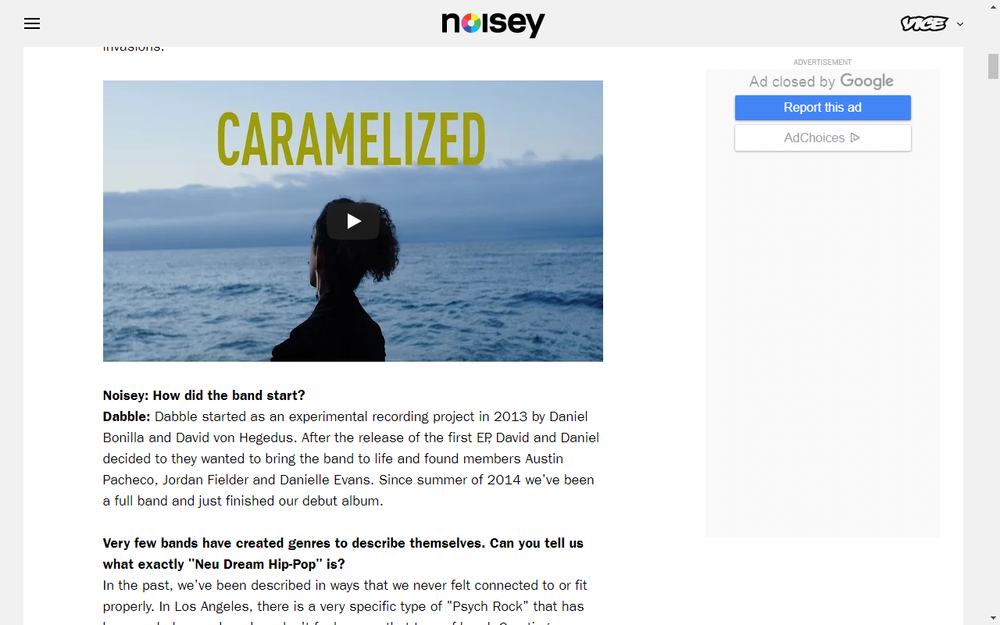 Noisey Shares New Video By Dabble