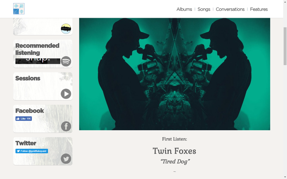 Gold Flake Paint Premieres New Twin Foxes Song