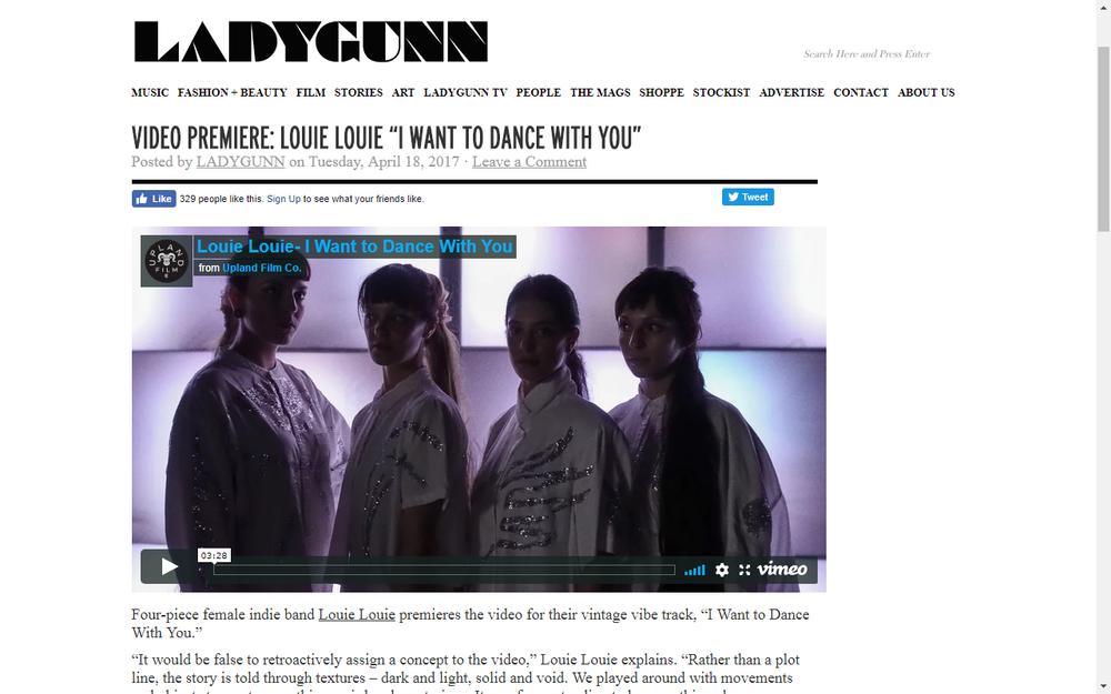 LADYGUN Premieres new Louie Louie Video