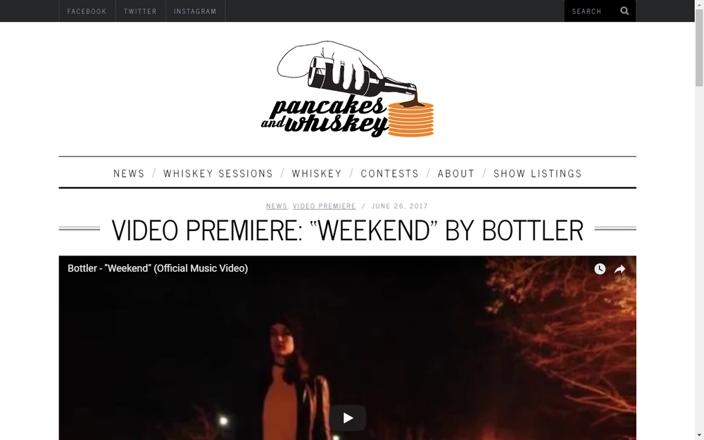 Pancakes And Whiskey Premiere New Bottler Video