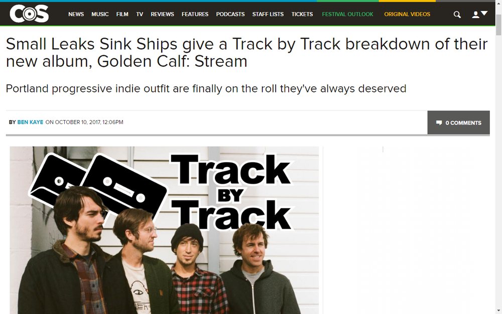 Consequence Of Sound Streams 'Golden Calf' by SLSS
