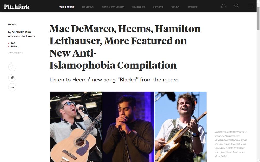 "Pitchfork announces ""Philia"" anti-Islamophobia compilation"
