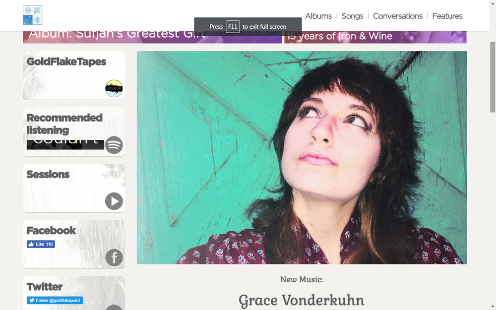 Gold Flake Paint Shares 'Worry' By Grace Vonderkuhn