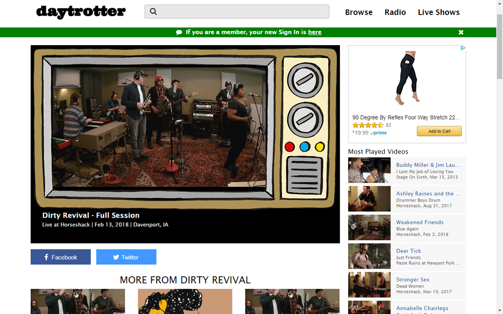 Daytrotter Features Dirty Revival