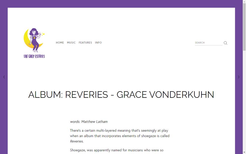 The Grey Estates Share New Grace Vonderkuhn